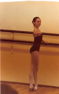 Me at 14 years old, in Shelia's studio
