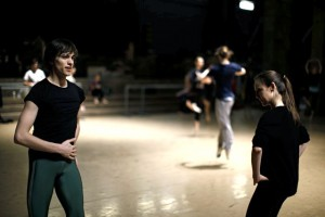 Teaching PNB dancers in Seattle, WA, photo by Patrick Fraser