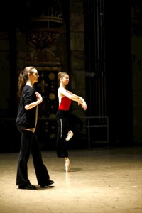 Working with Carla Korbes, principal dancer at PNB, photo by Patrick Fraser