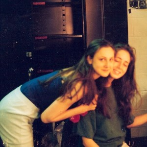 Romy and I backstage before a performance